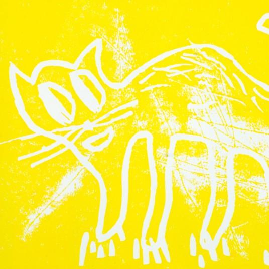 Katze /gelb