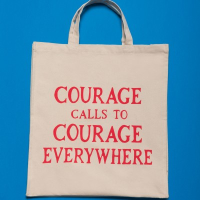 Gillian Wearing, Courage Calls Tote Bag