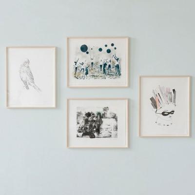 Isabelle Dutoit, Verena Landau, Claudia Rößger, Miriam Vlaming, Künstler-Mappe inkl. 4 Lithografien