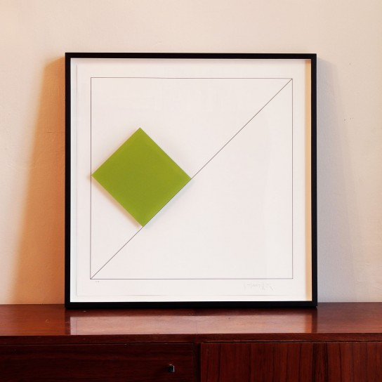 Gottfried Honegger, Conrete Composition with Green