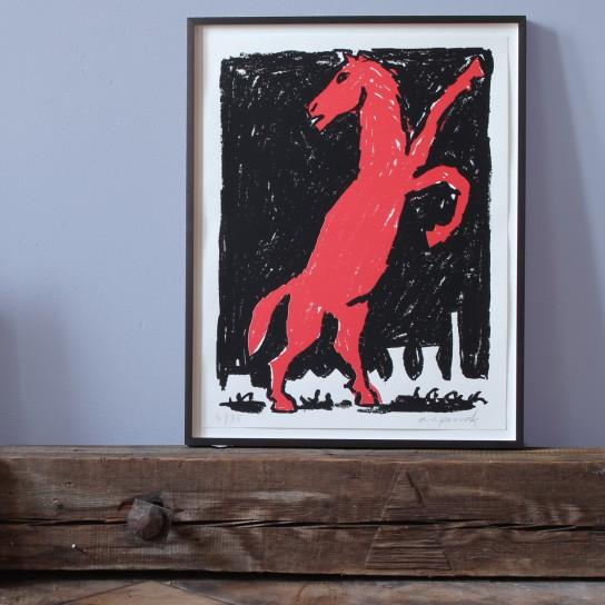 A.R. Penck, Rotes Pferd